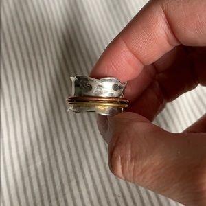 Sundance hammered chrome spinner ring